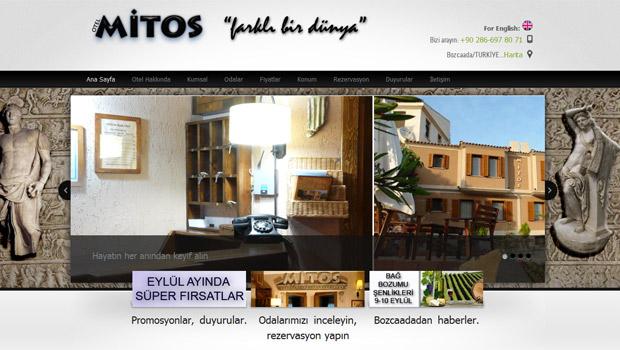 Nevura Web Tasarım Referansları : Mitos Butik Hotel BOZCAADA
