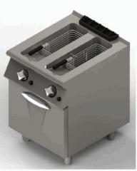 NF76G10  gazlı dolaplı çiftli fritöz